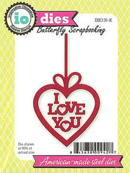 I Love You Heart Set American Made Steel Dies Impression Obsession DIE131-K New