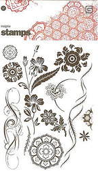 INSIGNIA DESIGN Clear Unmounted Rubber Stamps Set BASICGREY NEW Flowers Flourish