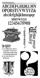 Inspire Story Typography #3 Unmounted Red Rubber Cling Stamp Set Graphic 45 New