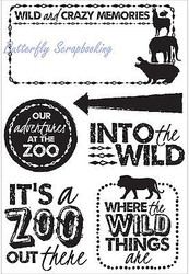 INTO THE WILD Collection Clear Unmounted Rubber Stamp Set Kaisercraft CS220 New
