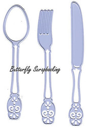 Knife, Fork & Spoon Dies Steel Dies by Joy! Crafts DIE # 6002/0374 New