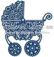 LACE BABY BUGGY PRAM DIE Craft Die Cutting Die Tattered Lace Dies D093 New