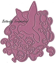 Lace Hummingbird Flourish US made Steel Die by Cheery Lynn Designs DIE B192 New