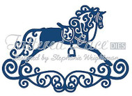 LACE ROCKING HORSE DIE Craft Die Cutting Die Tattered Lace Dies D219 New