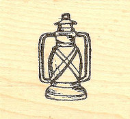 Lantern, Wood Mounted Rubber Stamp NORTHWOODS - NEW, B9793
