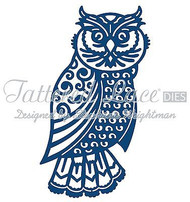 Large Ornate OWL DIE Craft Die Cutting Die Tattered Lace Dies D297 New