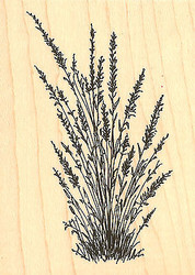 Lavender Branchs Wood Mounted Rubber Stamp Impression Obsession Stamp E14178 New