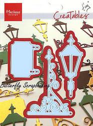 Light Post Sign Craft Steel Dies by Marianne Design Creatables Dies LR0191 New