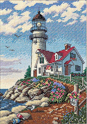 Lighthouse Beacon Point Gold Collection Petites Dimensions Cross Stitch Kit NEW