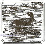 Limited Edition Loon Birds Wood Mounted Rubber Stamp Northwoods Stamp PP9507 New