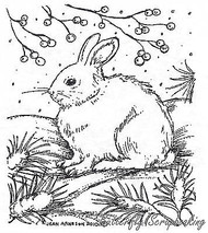 Linda's Winter Bunny, Wood Mounted Rubber Stamp New NORTHWOODS - F7688