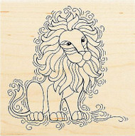 LION Pen Pattern Wood Mounted Rubber Stamp Stampendous Stamp W147 NEW