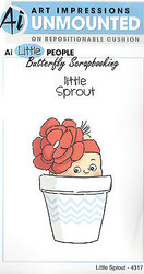 Little People Sprout Set Cling Unmounted Rubber Stamps AI Art Impressions NEW