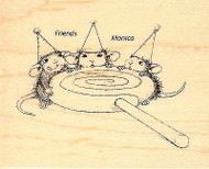 Lollipop Lunch HOUSE MOUSE Wood Mounted Rubber Stamp STAMPENDOUS, NEW - HMV16