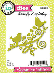 Love Birds On A Branch Die Cutting Die Impression Obsession DIE058-N New