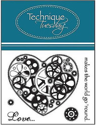 LOVE HEART Small Stamp Set Clear Unmounted Rubber Stamps TECHNIQUE TUESDAY New