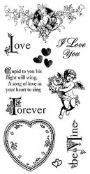 Love Sweet Sentiments Cling Unmounted Rubber Stamp Set Graphic 45 IC0291 New