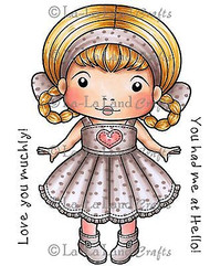 Love You Marci Stamp Set Cling Unmounted Rubber Stamp La La Land Crafts 5243 Ne