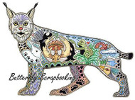 LYNX Animal Spirit Cling Unmounted Rubber Stamp EARTH ART Sue Coccia New