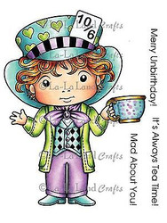 Mad Hatter Luka Stamp Set Cling Unmounted Rubber Stamp La La Land Crafts 5199 Ne