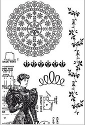 Madame Boutique Collection 5 Clear Unmounted Rubber Stamps by Kaisercraft NEW
