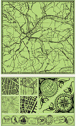Map Kit Unmounted Cling Rubber Stamp Set Inkadinkado Create a Background New