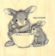 Mixed Up HAPPY HOPPERS Wood Mounted Rubber Stamp STAMPENDOUS, NEW - HHQ06