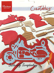 Motorcycle Bike Craft Steel Die by Marianne Design Creatables Die LR0287 New
