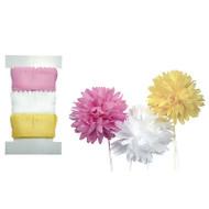MUMS PULL FLOWERS Make Pull Ribbon Flowers 2 Yards Each LITTLE B 100421 NEW
