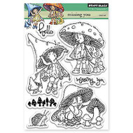 Mushroom Fairies, Clear Unmounted Rubber Stamp Set PENNY BLACK- NEW, 30-279