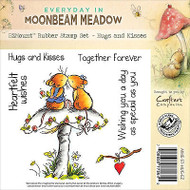 Mushroom Mouse Hugs Unmounted Rubber Stamps MOONBEAM MEADOW MME-ST-HUG-EZ New