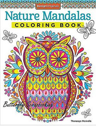 NATURE MANDALAS Coloring Book For Markers & Colored Pencils Design Originals New