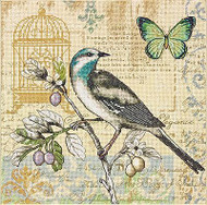NATURE STUDY Bird & Butterfly Counted Cross Stitch Kit Dimensions 70-35290 NEW