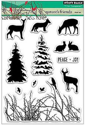 NATURES FRIEND Stamp Set Clear Unmounted Rubber Stamp Set PENNY BLACK 30-261 New