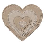 Nesting HEARTS 11 Die Creative Steel Dies & Magnetic Storage LITTLE B 100384 NEW