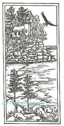 Northshore Lighthouse Eagle Wood Mounted Rubber Stamp Northwoods Rubber Stamp Ne