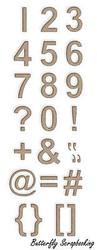 NUMBERS 24 Dies Creative Steel Dies & Magnetic Storage LITTLE B 100463 NEW