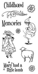 Nursery Rhymes #2 Childhood Unmounted Red Rubber Cling Stamp Set Graphic 45 New