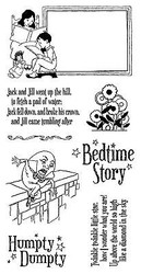 Nursery Rhymes #3 Bedtime Unmounted Red Rubber Cling Stamp Set Graphic 45 New