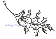 Oak Leaf Wood Mounted Rubber Stamp Northwoods Rubber Stamp New