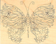 Ocean BUTTERFLY Wood Mounted Rubber Stamp Impression Obsession H2321 NEW