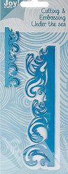 Ocean Wave Die Craft Steel Cutting Die Joy! Crafts DIE # 6002/0330 New