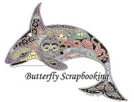 ORCA WHALE Animal Spirit Cling Unmounted Rubber Stamp EARTH ART Sue Coccia New