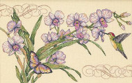 Orchids & Hummingbird Counted Cross Stitch Kit Dimensions 35237 NEW