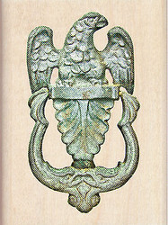 Ornate Decorative Door Knocker Wood Mounted Rubber Stamp by Inkadinkado NEW