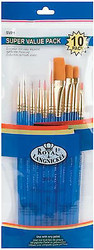 PAINT BRUSHES 10 Brush Set Royal Langnickel Art Studio 10 Pack SVP1 New