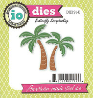 Palm Trees Set American Made Steel Dies by Impression Obsession DIE191-E New
