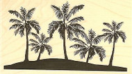Palm Trees, Wood Mounted Rubber Stamp IMPRESSION OBSESSION - NEW, F7767