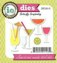 Party Drinks Set American Made Steel Dies by Impression Obsession DIE185-H New