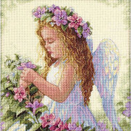 Passion Flower Angel Counted Cross Stitch Kit Dimensions 35229 NEW